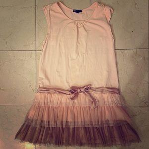 GAP Kids Girls Pink Dress w/ Layered Tulle size XL